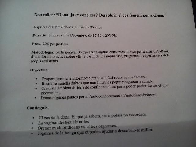 INFORMACIÓN DE TALLER