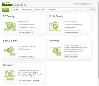 Webroot SecureAnywhere Complete 2013 Features