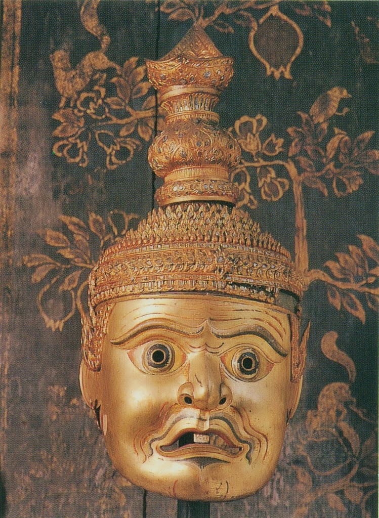 Khon mask from the collection of the Bangkok National Museum
