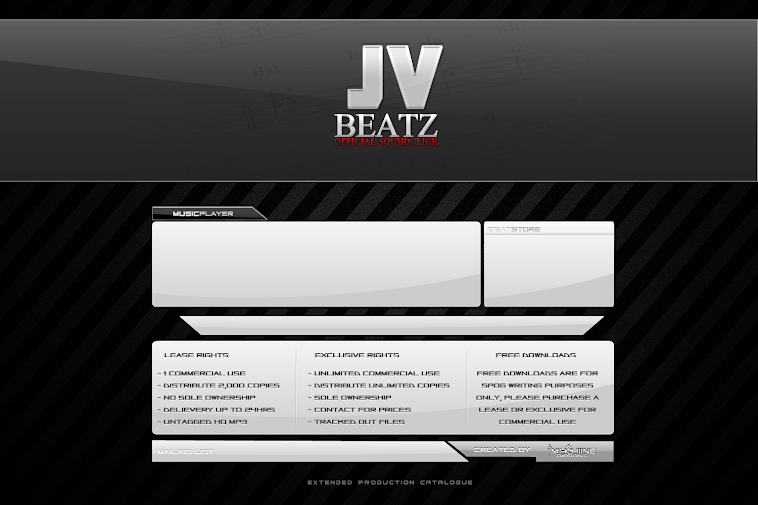 "Custom SoundClick Page for ""JV Beatz"""