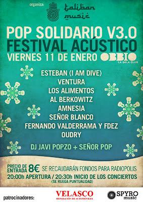 Festival Acústico Pop Solidario Sala Obbio Sevilla 11 de Enero 2013