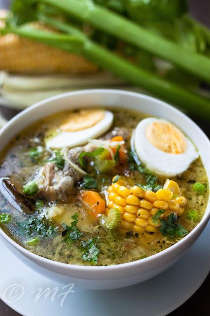 Supă de pui în stil peruan