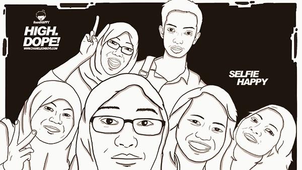 Anggitabay | selfie happy