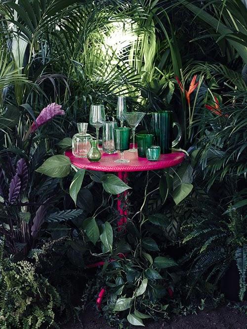 exterior tropical mesa rosa