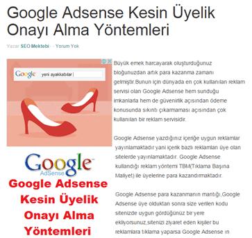 Blogger AdSense Reklamını Yazı İçine Ekleme