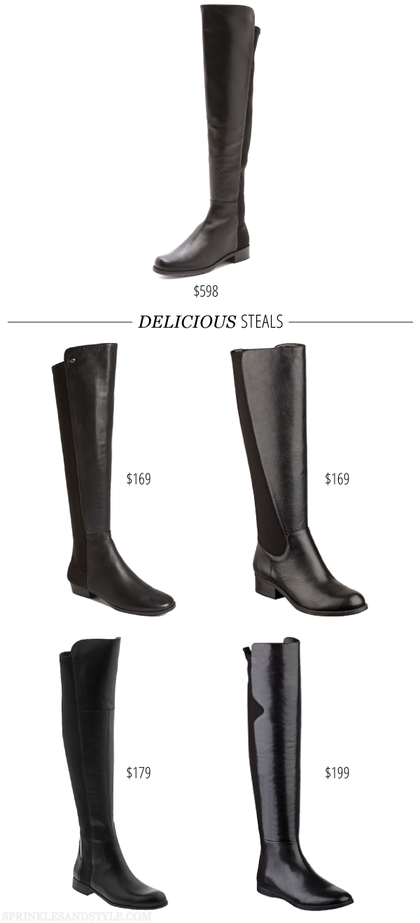 Sprinkles and Style || Delicious Steals: Stuart Weitzman 5050 Boot Lookalikes