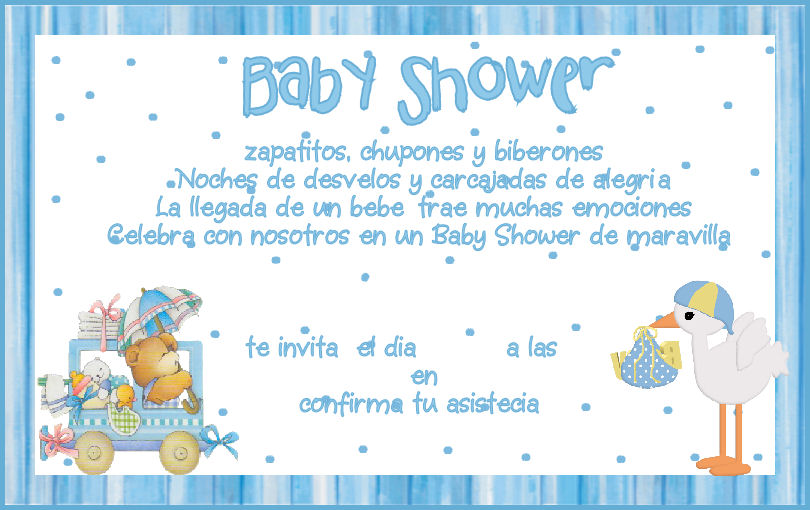 Dedicatorias para baby shower de nino - Imagui