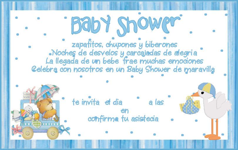 Invitaciones Para Baby Shower De Nino