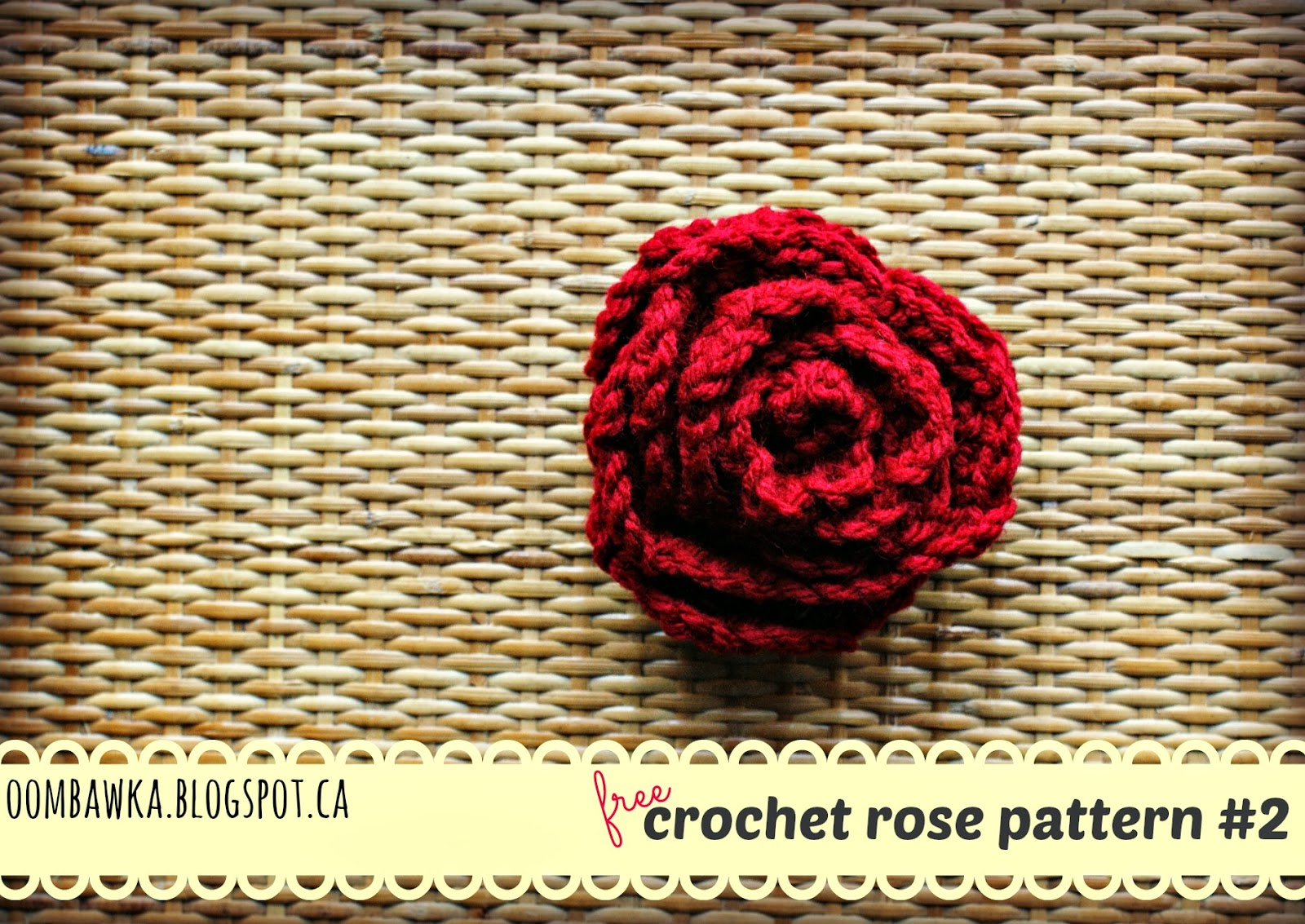 Large Crochet Rose Pattern Free : Oombawka Design *Crochet*: Free Crochet Pattern - Rose ...