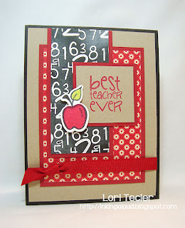 Best Teacher Ever-designed by Lori Tecler-Inking Aloud-stamps and dies from Verve Stamps
