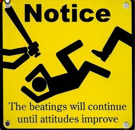 Beatings signs