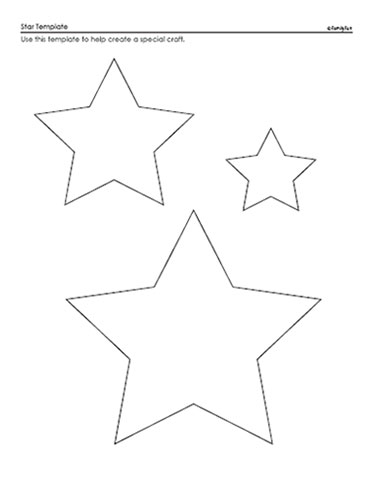 Decisive image inside star stencil printable