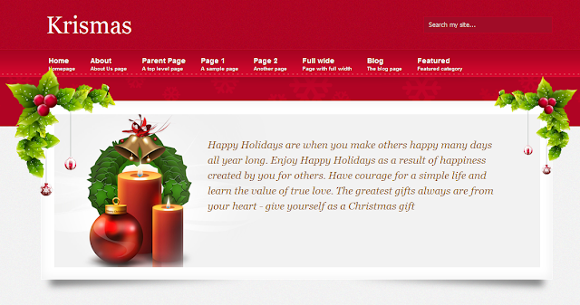 Christmas Theme Blogger Template