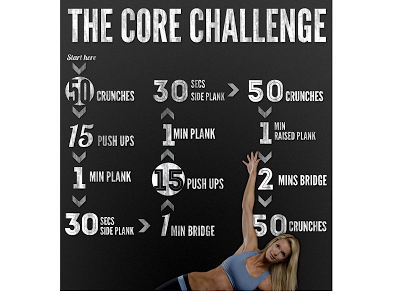 Tribesports Core challenge exercises