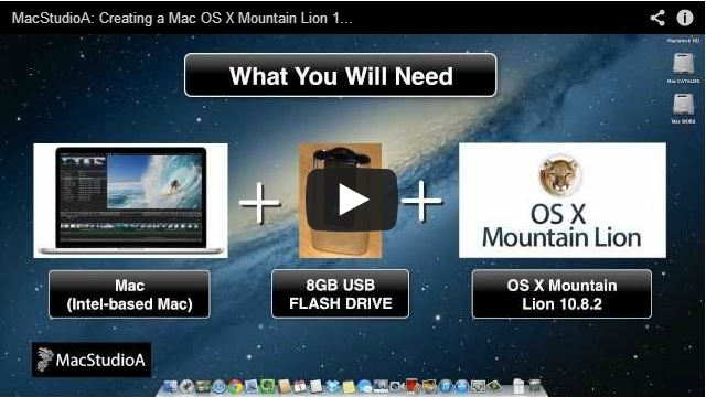 Creating a Mac OS X Mountain Lion Boot Disk
