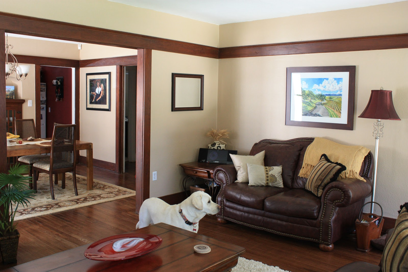 Average family room -  Watching A Cat During My Photo Shoot The Painting Above The Love Seat Was Done By Matt S Cousin Bobby He Is Amazing Next Up Tomorrow Dining Room