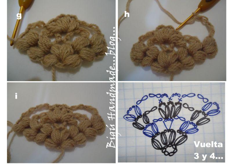 Bigú Handmade: Chal Flor de Maní...