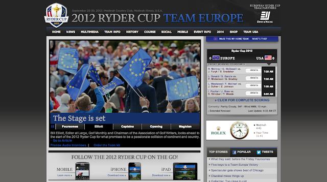 Page d'accueil de la TEAM EUROPE