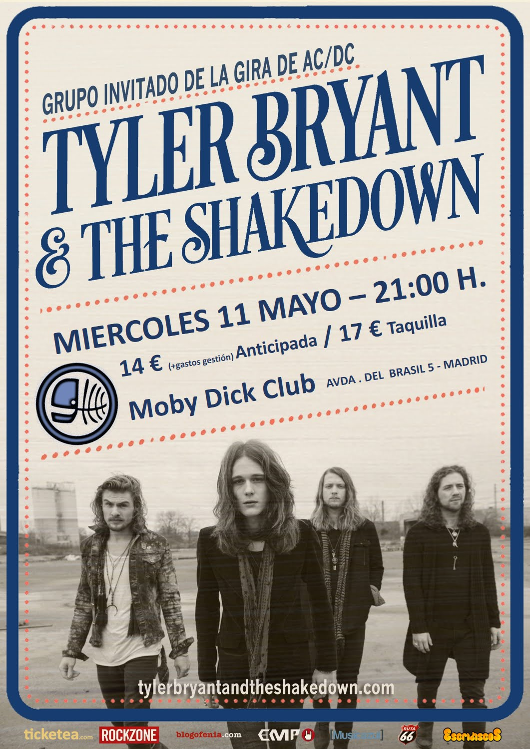 Tyler Bryant & The Shakedown - Moby Dick Club - 11/05/2016