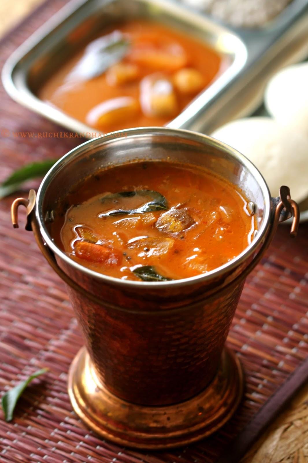 Ruchik Randhap (Delicious Cooking)Sambar ~ Mangalore Hotel Style