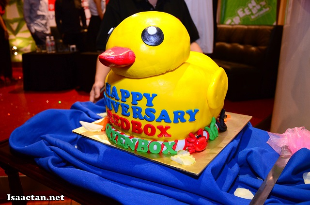 The rather interesting yellow duck cake