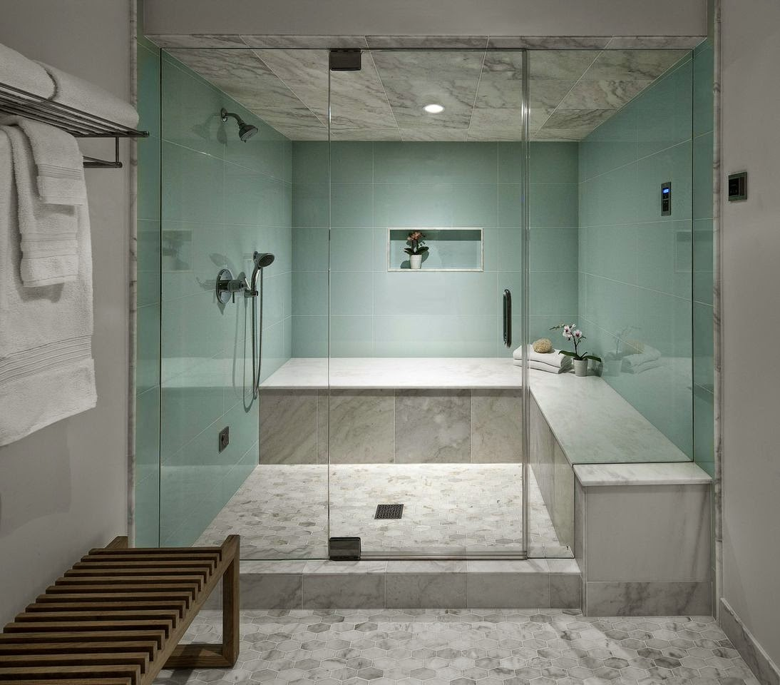 Projects say goodbye to shower curtains and hello to stunning glass enclosed showers Bathroom tile showers