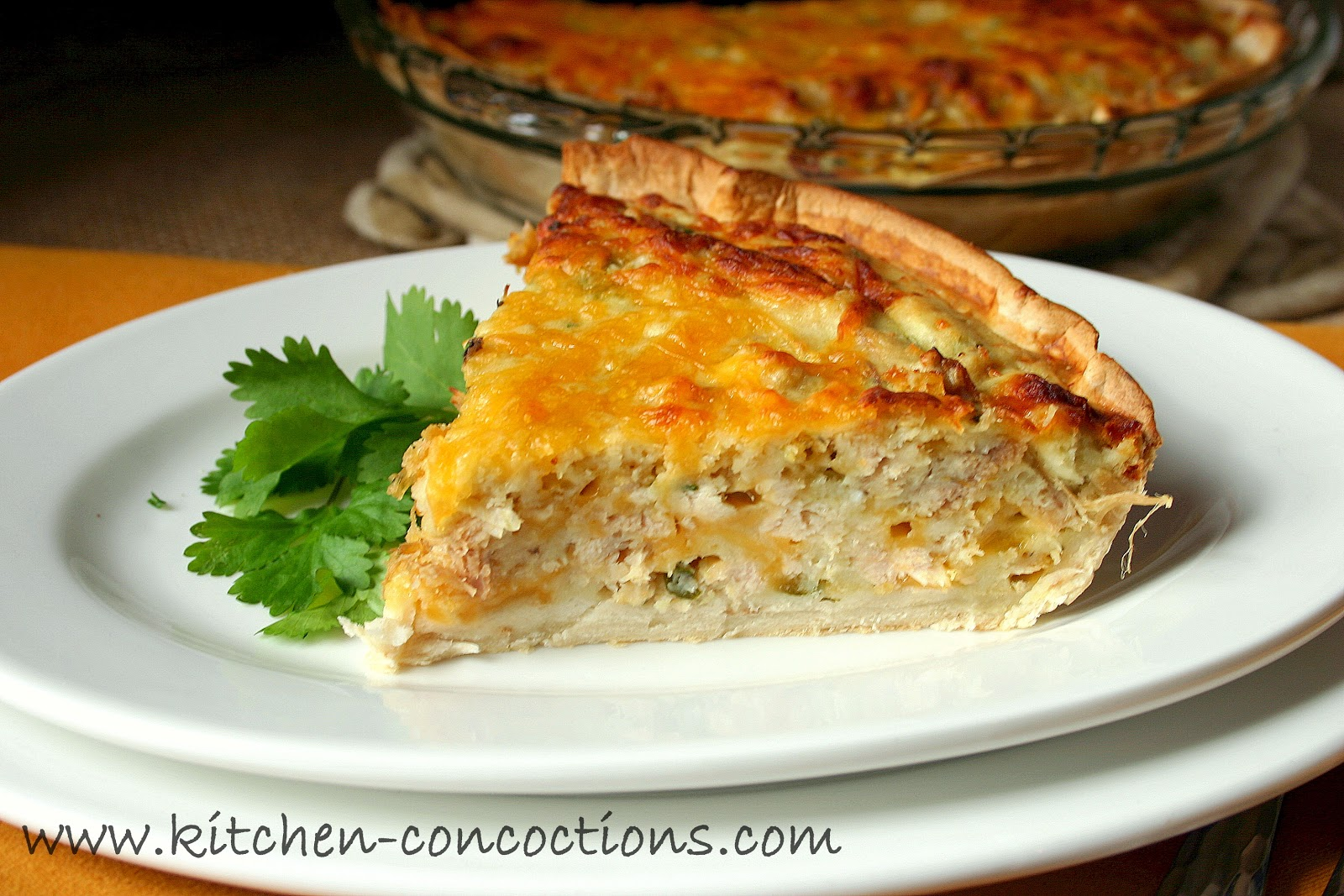 "... with Bloggers"" - Cheesy Chicken Quesadilla Pie - Kitchen Concoctions"