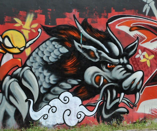 Dragon Graffiti Urban Art