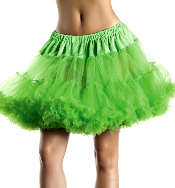 Green Ruffle Petticoat