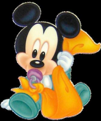 Mickey mouse bebe con chupete