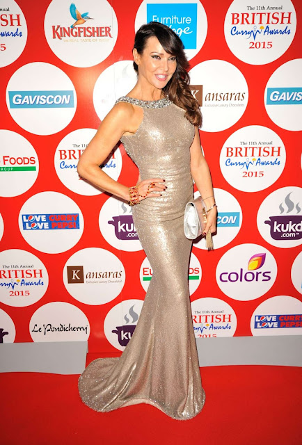 Television Presenter, Model, @ Lizzie Cundy - British Curry Awards in London