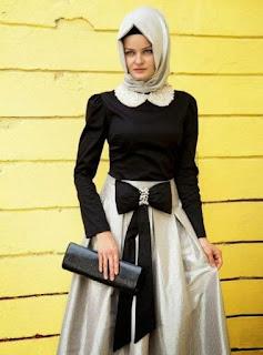 baju pesta muslimah atas bawah