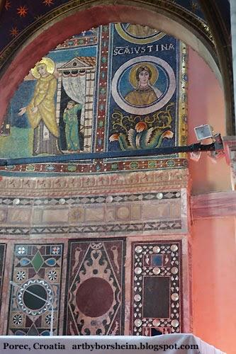 Basilika in Poreč, Croatia, Istria, religious art, mosaic art, Basilica