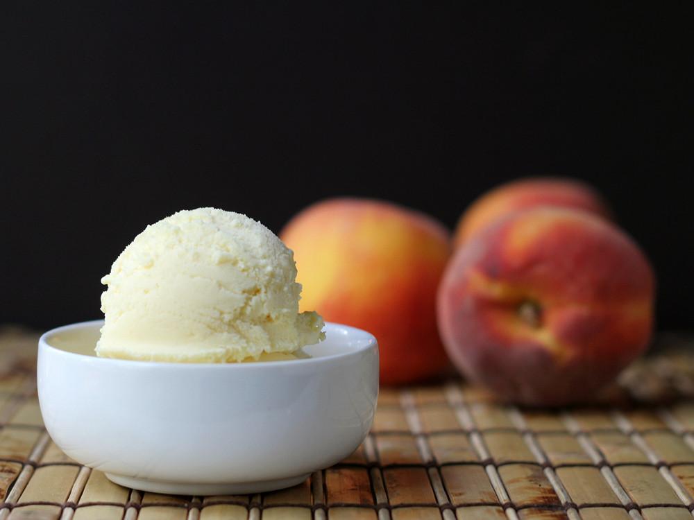 Cookistry: Triple Peach Ice Cream #IceCreamWeek