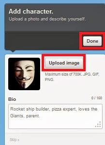 Pasang gambar profil pada akun baru anda