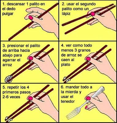 Cómo comer sushi con palillos chinos Como-comer-con-palillos-chinos