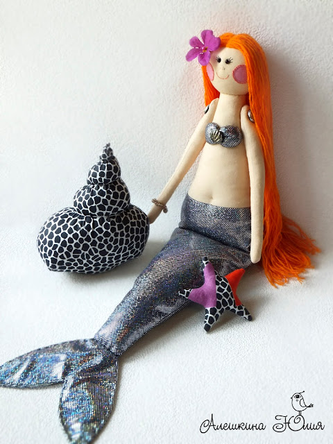 Русалочка кукла ручной работы