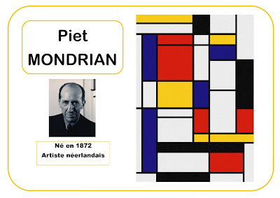 Piet Mondrian -portrait d'artiste en maternelle