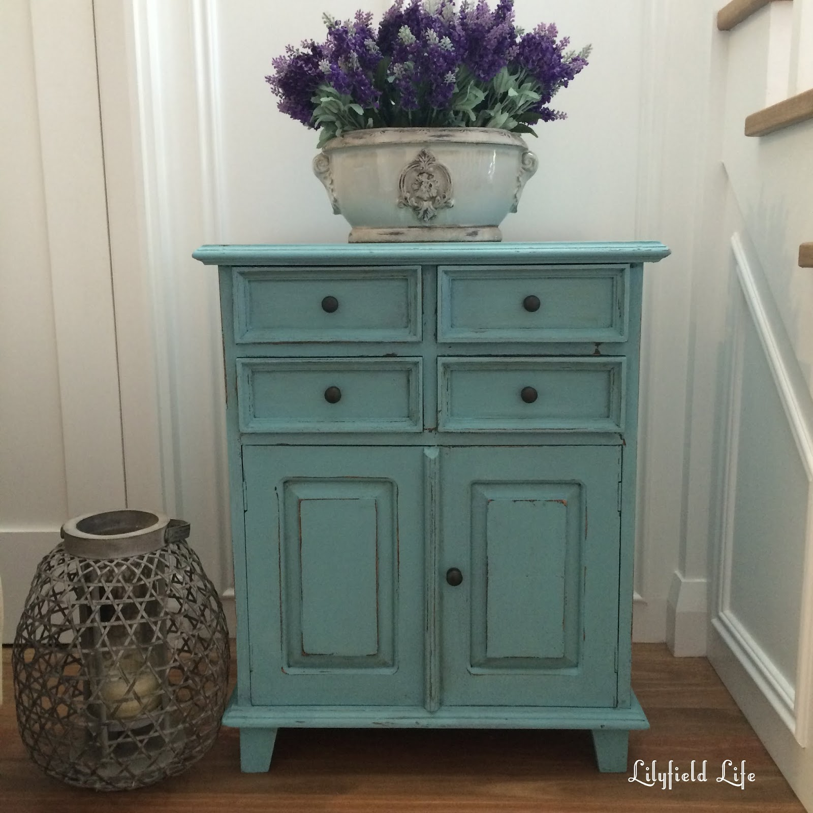 Rustic Turquoise Cabinet