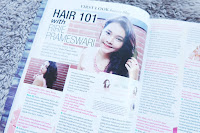 beauty blogger Indonesia featured in cosmogirl Indonesia mei issue