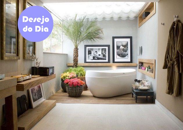#achadosdedecoracao, banheiro com banheira, blog Achados de Decoração