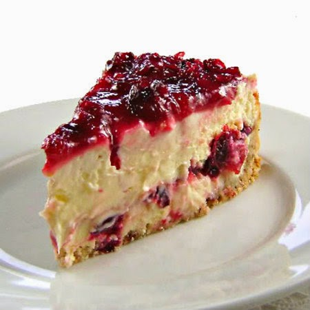One Perfect Bite: Cranberry Layered Cheesecake - Away A ...