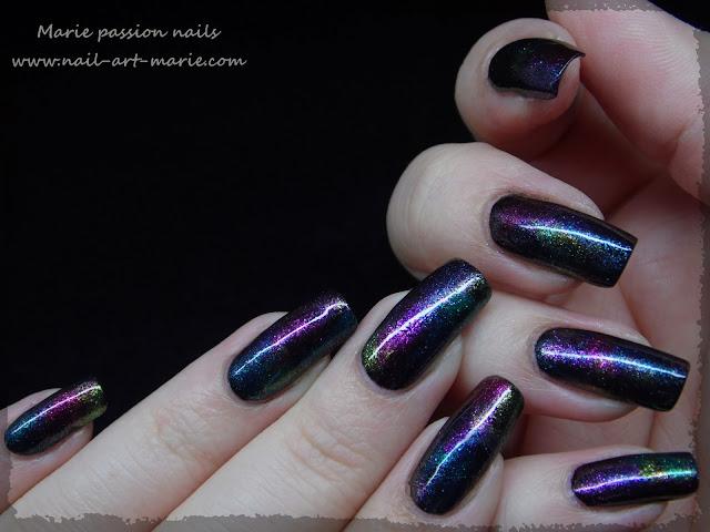 Nail art aurore boréale2