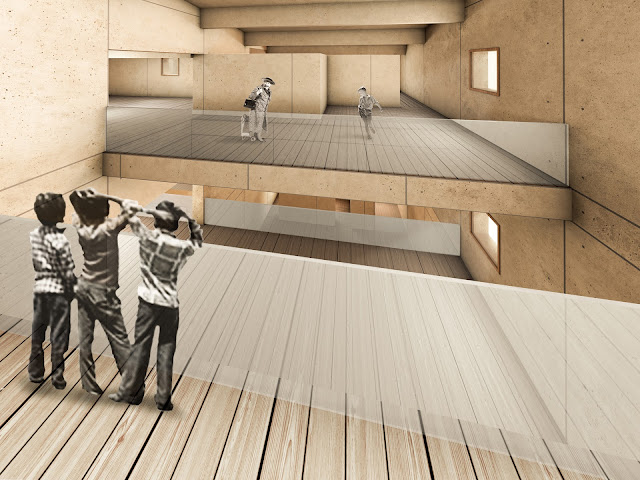 RENDERS 3D PFC - Imagen 3d interior para el PFC ETSAM de Adriana Quesada Sánchez - ETSAM UEM UCJC ESAYT USPCEU USP CEU IE UAX UAH UPM ETSA