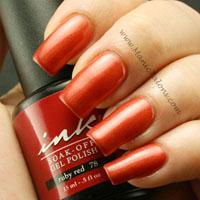 Glam and Glits Ink Gel Polish Ruby Red Swatch