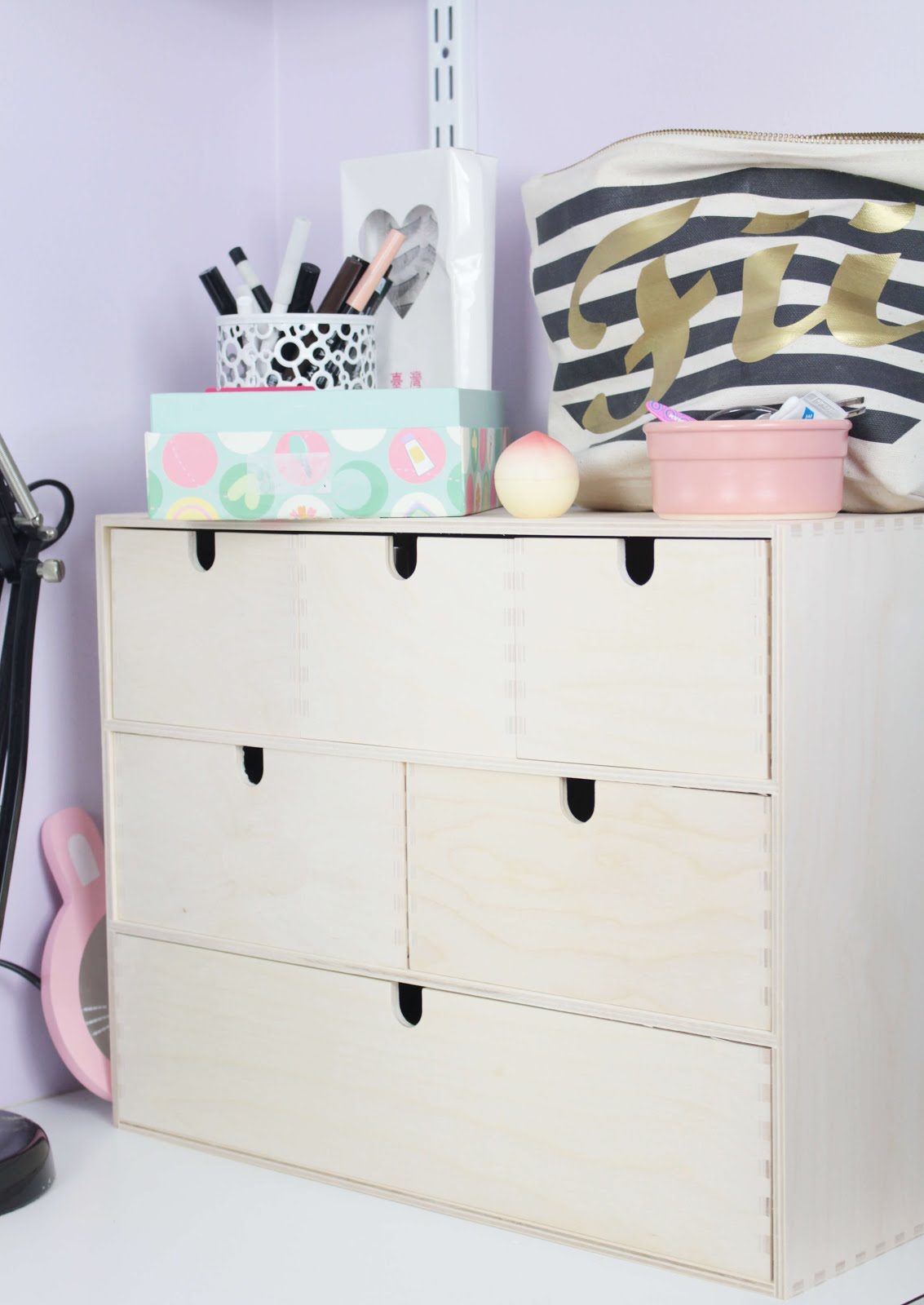 How i store my makeup ikea moppe drawers little miss fii Makeup drawer organizer ikea