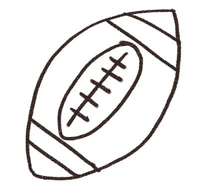 アメリカンフットボールのイラスト(スポーツ器具) モノクロ線画