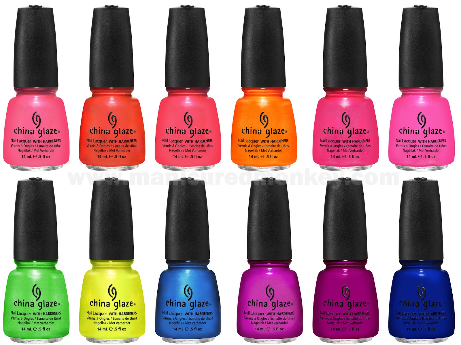 China Glaze's Hot Hues | Summer Neons Nail Lacquer Collection | The ...