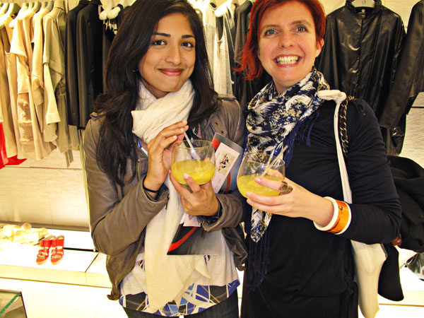 Colour co-ordinated drinks at CK Westfield Sydney Vogue Fashion's Night Out 2011 CK Westfield Girls