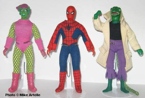 Above is Green Goblin Spider-Man and Lizard (wearing a replacement lab coat that I made when I was nine years old!). Iu0027m only missing the Peter Parker Mego ... & Mikeyu0027s Dolls: 1972 - 2003: Marvel Comics